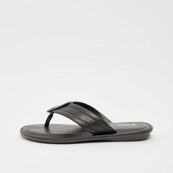 Stitch Detail Slide Sandals