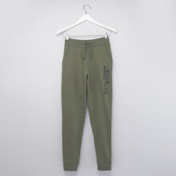 Full Length Printed Anti-Pilling Jog Pants with Pockets and Drawstring