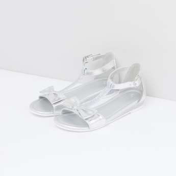 Glitter and Bow Detail Sandals