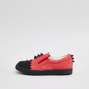 Applique Detail Slip On Shoes