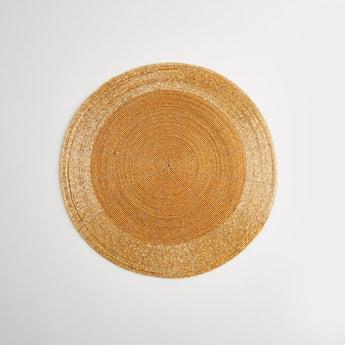 Beaded Circular Placemat - 36 cms