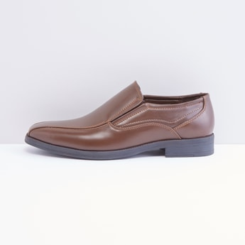 Slip On Formal Shoes with Stitch Detail