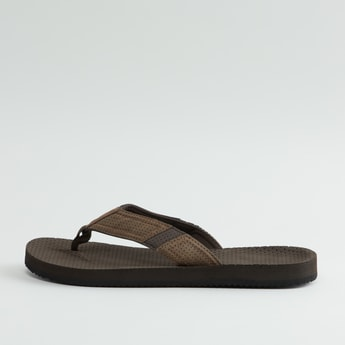 Textured Flip Flops with Wide Straps