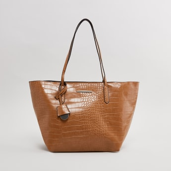 Textured Hand Bag with Shoulder Straps