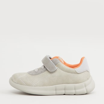 Low Top Shoes with Hook and Loop Closure