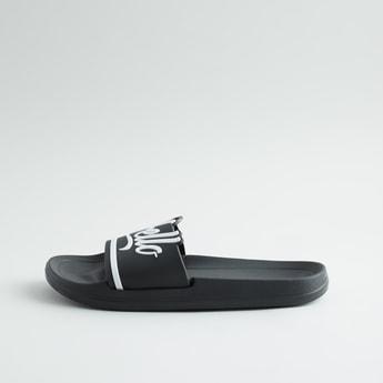 Typographic Slide Slippers