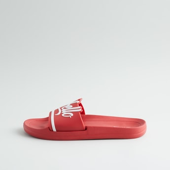 Typographic Slide Slippers