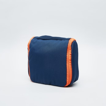 Textured Travel Pouch with Zip Closure