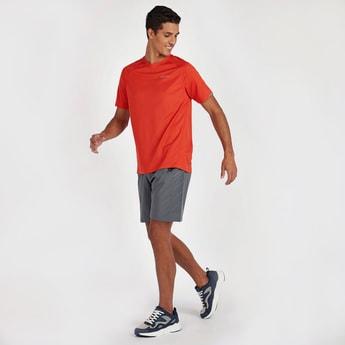 Textured T-shirt with Raglan Sleeves