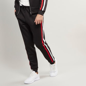 Full Length Jog Pants with Stripe and Pocket Detail