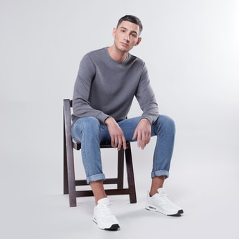 Textured Sweatshirt with Long Sleeves