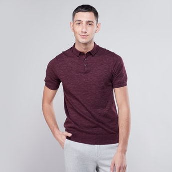 Collared Sweater with Short Sleeves