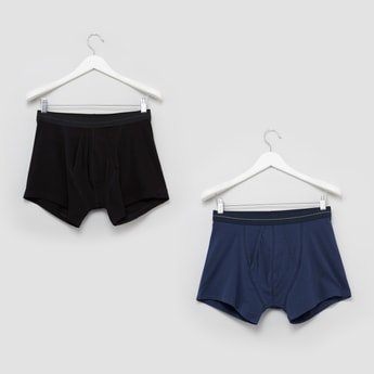 Set of 2 - Plain Trunks with Wide Elasticised Waistband
