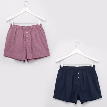 Set of 2 - Boxers with Elasticised Waistband