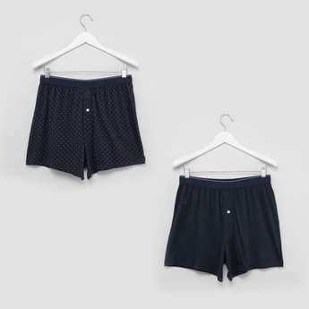 Set of 2 - Printed Boxer Briefs with Button Closure