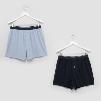 Set of 2 - Assorted Boxers with Wide Elasticised Waistband