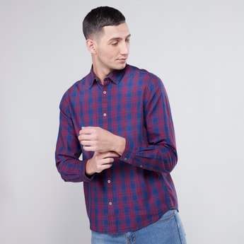Checked Shirt with Long Sleeves