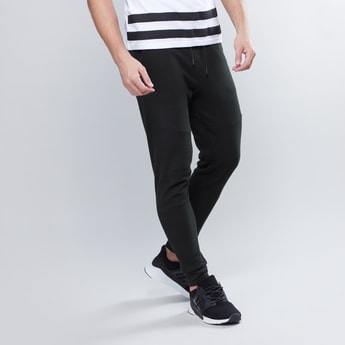 Slim Fit Plain Jog Pants with Pocket Detail and Drawstring