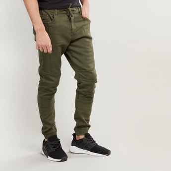 Slim Fit Full Length Jog Pants with Pocket Detail and Drawstring