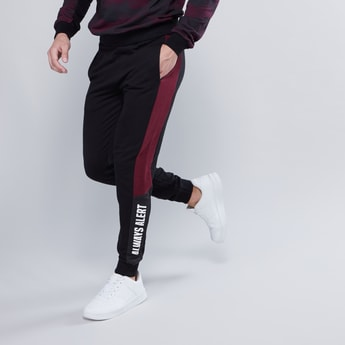 Slim Fit Printed Mid Waist Jog Pants with Elasticised Waistband