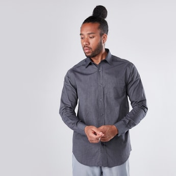 Long Sleeves Shirt in Regular Fit with Complete Placket