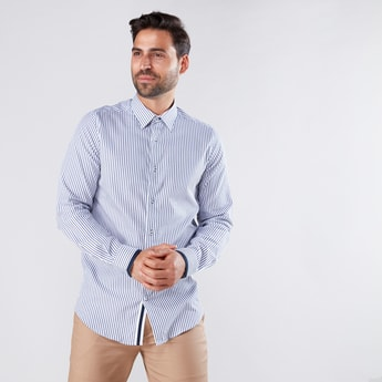 Striped Shirt in Slim Fit with Long Sleeves