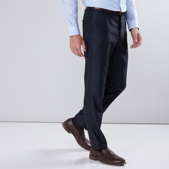 Structured Trousers in Slim Fit with Pocket Detail