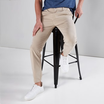 Full Length Chinos with Cuffed Hem and Pocket Detail