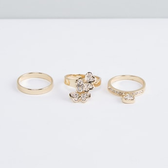 Metallic Finger Rings - Set of 3
