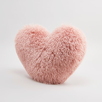 Heart Shaped Textured Filled Cushion