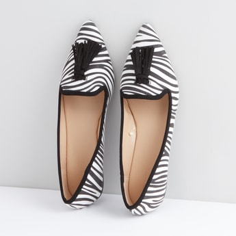 Ballerina with Tassel Detail and Zebra Stripes