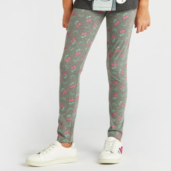 Full Length Printed Leggings with Elasticised Waistband