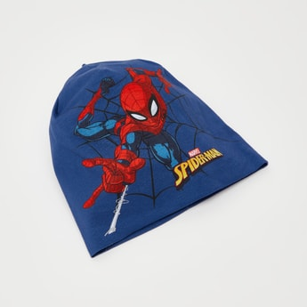 Spider-Man Graphic Print Beanie with Cuffed Hem