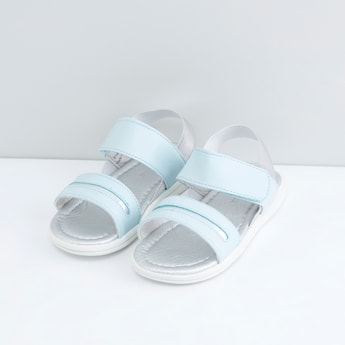 Strap Sandals with Hook and Loop Closure