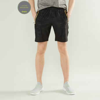 Printed Shorts with Zippered Pockets