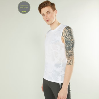 Jacquard Print Sleeveless Vest