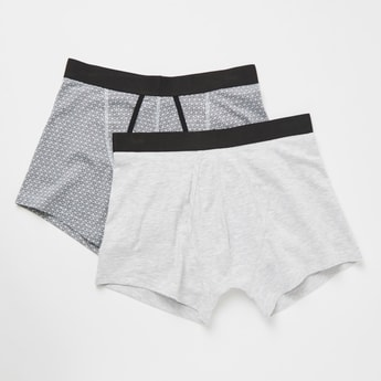 Set of 2 - Assorted Trunks with Wide Elasticised Waistband