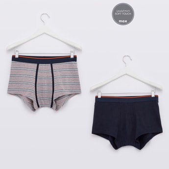 Set of 2 - Assorted Trunk Briefs with Elasticised Waistband