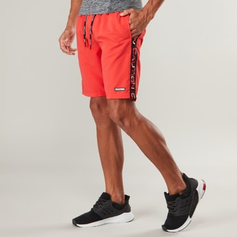 Printed Mid-Rise Shorts with Pocket Detail and Elasticised Waistband