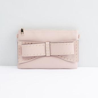 Studded Crossbody Bag with Detachable Metallic Chain