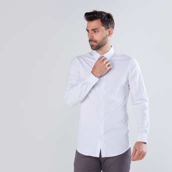 Printed Slim Fit Shirt with Long Sleeves