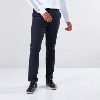 Full Length Chinos in Regular Fit with Pocket Detail and Belt Loops