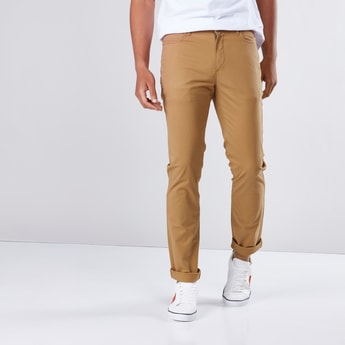 5 Pockets Full Length Chinos in Slim Fit