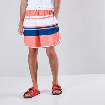 Mid-Rise  3-Pocket Surf Short with Drawstring Closure