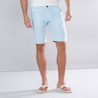 Plain Shorts with Pocket Detail and Loops