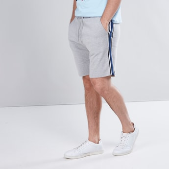 Slim Fit Shorts with Pocket and Tape Detail