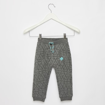 Quilted Jog Pants with Pocket Detail and Drawstring Closure