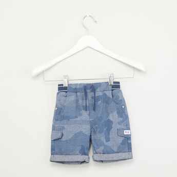 Fella Camo Print Shorts with Upturned Hems