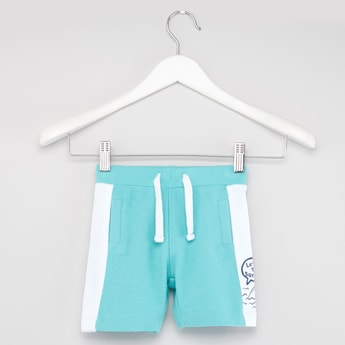 Surf Slub Terry Knit Shorts with Elasticated Drawstring Waistband