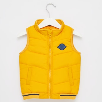 Solid High Neck Gilet